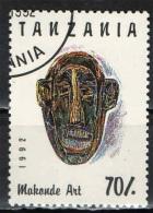 TANZANIA - 1992 - MAKONDE ART - VOLTO SCOLPITO - USATO - Tanzania (1964-...)