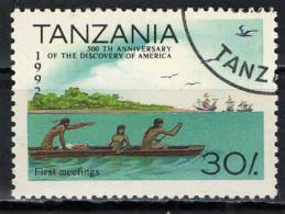 TANZANIA - 1992 - 500° ANNIVERSARIO DELLA SCOPERTA DELL'AMERICA - USATO - Tanzania (1964-...)