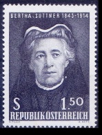 Bertha Suttner, 1st Women Nobel Peace Winner, Austria MNH - Premio Nobel