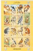 Stamps LIBYA 1995 SC-1506 LIBYAN ZOO ANIMALS MNH SEET OF 16 SET CV=$21 */* - Libye