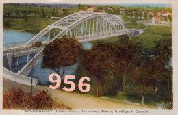 CPA * * BAS-EN-BASSET * * Le Nouveau Pont Et Le Vilage De Gourdon - Otros Municipios