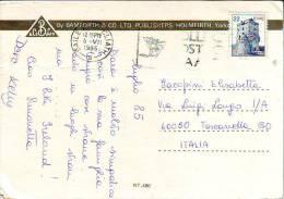 """Irlanda Francobollo Anni 80"""" Castello Val. 22"""" Su Cartolina Ireland - Storia Postale"""