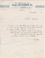 - ALLIER - FACTURES  G. CHEVALIER à MOULINS - 001 - Sin Clasificación