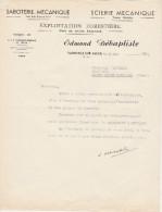 - ALLIER - FACTURE Scierie  Edmond DEBATISTE à VARENNES-SUR-ALLIER  - 003 - Invoices & Commercial Documents