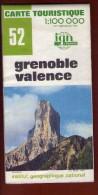 1 Carte - Ign 52 Grenoble Valence - Sonstige