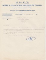 - NIEVRE - 58 - FACTURE  Scierie S.E.F.T. à TAMNAY-EN-BAZOIS - 008 - Factures & Documents Commerciaux