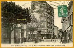 7519/107 Paris Rue Du Pré Saint-Gervais, Station Du Métro, Ecrite **** - Arrondissement: 19