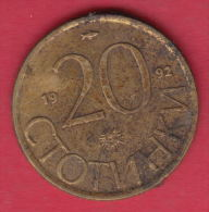 F6676 / - 20 Stotinki - 1992 - FISH , SUN , LION , Bulgaria Bulgarie Bulgarien Bulgarije - Coins Monnaies Munzen - Bulgaria
