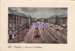 CPSM 10X15 De  ST NAZAIRE     (44) - Avenue De La REPUBLIQUE - VOITURES  - 1958 N° 1725 - Saint Nazaire