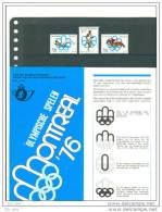 16/3 18/12 Belgique 3 Scans Doc Postal JO Montreal Obl 1300 Wavre 10 4 76 + Doc Sans Timbres + Serie XX - Estate 1976: Montreal