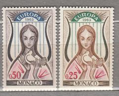 EUROPA CEPT 1963 Monaco Mi 742 - 743 MNH (**) #19706 - Monaco