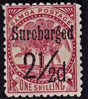 C0098 SAMOA 1898, SG 86 2½d Surcharge On 1s,  MNH - Samoa