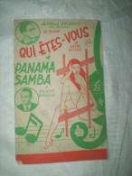 """PARTITION """"QUI ETES VOUS"""" """"PANAMA SAMBA""""  """" ANDRE ASTIER  (cm) - Partitions Musicales Anciennes"""