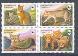 Ncw303s WWF FAUNA WILDE KAT ROOFKAT WILD CAT ROHRDKATZE FELINS TAJIKISTAN 2002 PF/MNH - W.W.F.
