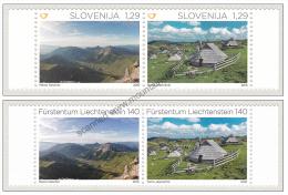 Liechtenstein Slovenia 2015 Joint Issue Mountain Mountains MNH ** - Liechtenstein