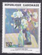 Gabon 1978, Postfris MNH, Flowers, Painting - Gabon (1960-...)