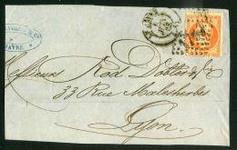FRANCE :  BEAUX CACHET  DIVERS  SUR  FRAGEMENT , DU   6  JUIN  1868 ?  , A  VOIR . - Marcophilie (Lettres)