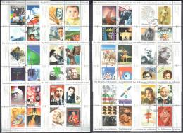 Canada 1999-2000 - The Millennium Collection - Sc#1818-34a-d - Used Gestempelt - Blocks & Sheetlets