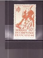 "7  **  Y&T  Tirailleurs Sénégalais & Cavalier Maure   *A.O.F""  2A/05 - A.O.F. (1934-1959)"