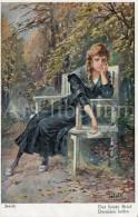 Postcard / CP / Postkaart / Artist / Adolf Jodolfi / Der Letzte Brief / Dernière Lettre / Femme / Woman / No 486 / 1920 - Adolf 'Jodolfi'