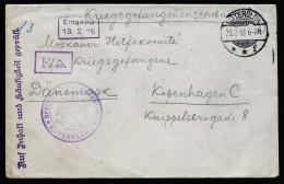 A3769) POW Kriegsgefangenenbrief Von Gütersloh 23.2.16 Nach Kopenhagen / Dänemark - Deutschland
