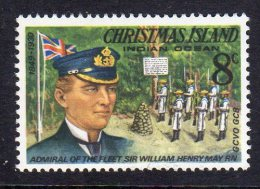 CHRISTMAS ISLAND - 1978 8c DEFINITIVE SIR WILLIAM MAY FINE MNH ** SG74 - Christmas Island