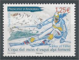 Andorra (French Adm.), Alpine Skiing World Cup Women, 2016, MNH VF - French Andorra