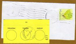 Partie D'enveloppe Avec Ajout Imprimé 677 Uitreiking Bruxelles - Zonder Classificatie
