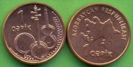 Azerbaijan 2006 (ND) 1 Qapik KM#39 UNC / BU !!! - Azerbaiyán