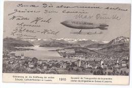 LUZERN: Eröffnung Der Ersten Schweiz. Luftschiffstation, ZEPPELIN 1910 - Dirigeables