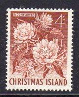 CHRISTMAS ISLAND - 1963 4c DEFINITIVE MOONFLOWER STAMP FINE MNH ** SG12 - Christmas Island