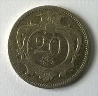 Monnaie - Autriche - 20 Groschen 1894 - TTB - - Autriche