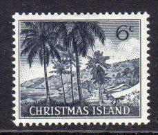 CHRISTMAS ISLAND - 1963 6c DEFINITIVE ISLAND SCENE STAMP FINE MNH ** SG14 - Christmas Island