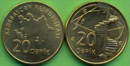 Azerbaijan 2006 (ND) 20 Qapik Coin KM#43 UNC / BU !!! - Azerbaïdjan