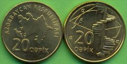 Azerbaijan 2006 (ND) 20 Qapik Coin KM#43 UNC / BU !!! - Azerbaïjan