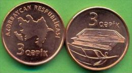 Azerbaijan 2006 (ND) 3 Qapik KM#40 UNC / BU !!! - Azerbaïjan