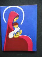 Petite IMAGE Pieuse Double -Vierge à L'Enfant- (JOUARRE 418) - Religión & Esoterismo