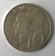 Monnaie - Autriche - 10 Schilling 1971 - Argent - - Autriche