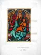 """IMAGE PROFESSION DE FOI - Vitrail N D De PARIS """"Agnès VAN TRAN 1973"""" (CGC Paris 208) - Religion & Esotericism"""