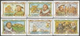 Grenadines Of St. Vincent 1983 Mi# 268-279 U ** MNH - Imperf., 6 Pairs - British Monarchs, Scenes From History - St.Vincent & Grenadines