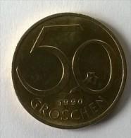 Monnaie - Autriche - 50 Groschen 1990 - - Autriche