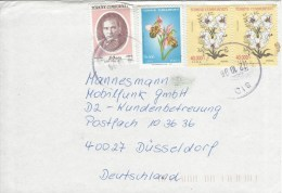 Turkey 1996 Sid Orchid Ophrys Apifera Bee Orchis Flower Lily Ataturk Cover - 1921-... République