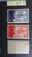 TIMBRE DE FRANCE N°   YT 565/566 Pour La Légion Tricolore 1942 Neuf ** AVEC VIGNETTE - Nuevos
