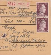 ALLEMAGNE  1944 COLIS POSTAL DE VIENNE - Allemagne