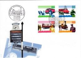 Schweiz MiNr. 1601 / 1604 150 Jahre Schweizer Bahnen Illustr. FDC - FDC