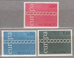 EUROPA CEPT 1971 Monaco Mi 1014 - 1016 MNH (**) #19715 - Monaco