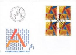 Schweiz MiNr.1546 Guinnes-Rekord Illustrierter Ersttagsbrief / FDC - FDC