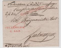 Bad275 / BADEN -  Villensen Nach Furtwangen 1842. Nachnahme. - Germany