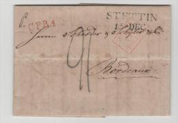 Pre268 /  PREUSSEN - Stettin 1825 Nach Bordeaux,  Frankreich CPR4 - Duitsland