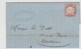 EL107 / ELSASS-LOTHRINGEN -  Brief,  Bitschweiler 19.9.73 Auf Mi.Nr. 19.. Marke Mit Superprägung Und Zentrierung - Deutschland